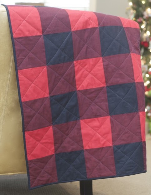 Tutorial Red Buffalo Plaid Quilt Home Sewn By Us