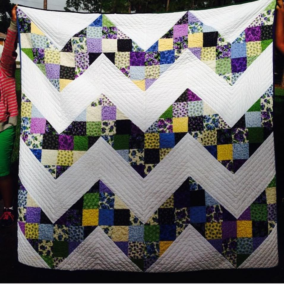 Tutorial - Lap Size Patchwork Chevron Quilt Home Sewn By Us